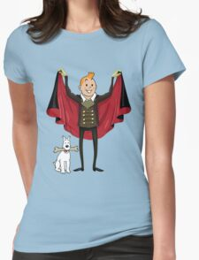 tintin and milo halloween Womens Fitted T-Shirt