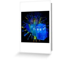 TARDIS STONEHENGE PORTAL Greeting Card