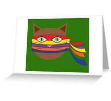 Bandana Cat Greeting Card