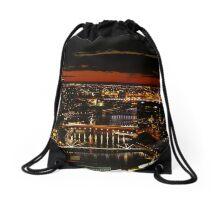 Melbourne Sunset Drawstring Bag