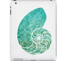 Nautilus Shell in The Ocean Water iPad Case/Skin