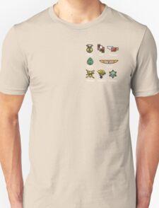 Pokemon - Kalos League: Kalos Region Badges Unisex T-Shirt