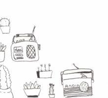 Succulents & Radios (Adara) Sticker