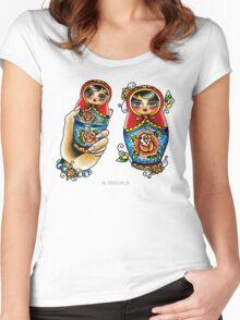 Matryoshkas Flash Women's Fitted Scoop T-Shirt