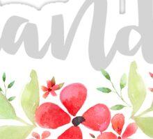 Floral Brandeis Sticker