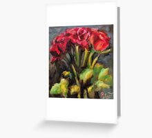 Bunch of red roses Greeting Card