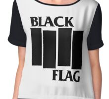 BLACK FLAG Chiffon Top