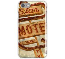 Vintage Star Motel Sign iPhone Case/Skin