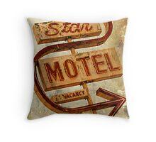 Vintage Star Motel Sign Throw Pillow