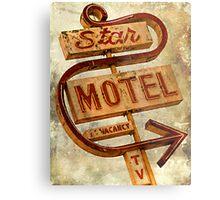 Vintage Star Motel Sign Metal Print