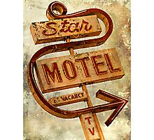 Vintage Star Motel Sign Photographic Print
