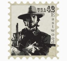 Clint Eastwood Stamp Design Kids Clothes