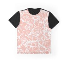 Pink White Swirl Graphic T-Shirt