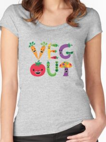 Veg Out Women's Fitted Scoop T-Shirt