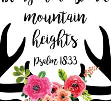 Psalm 18:33 Sticker