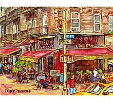 CINEMA CAFE NEW YORK CITY Photographic Print
