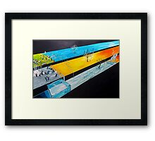 Playing with the states of matter Framed Print