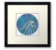 Circular Wave Design Framed Print