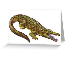 Vintage Crocodile Greeting Card