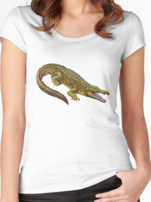 Vintage Crocodile Women's Fitted Scoop T-Shirt