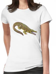 Vintage Crocodile Womens Fitted T-Shirt