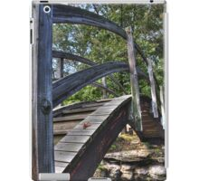 Leaf on bridge, HDR iPad Case/Skin