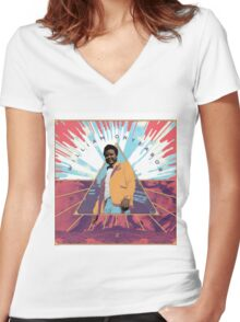 William Onyeabor Album Cover Women's Fitted V-Neck T-Shirt