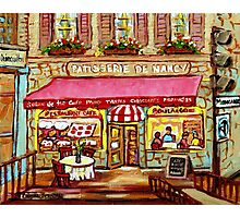 FRENCH PASTRY SHOP PATISSERIE DE NANCY MONTREAL Photographic Print