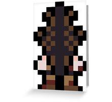 Pixel Pyramid Head Greeting Card