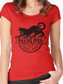 Haikyuu Team Types: Moulin Rogue Nekoma RED Women's Fitted Scoop T-Shirt