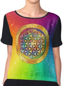 The Flower of Life Chiffon Top
