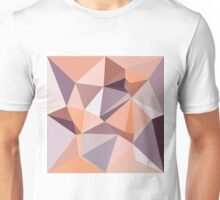 Almond Beige Abstract Low Polygon Background Unisex T-Shirt