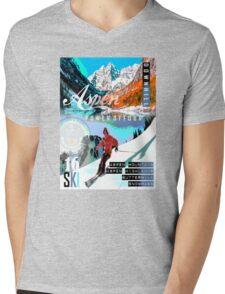 aspen ski Mens V-Neck T-Shirt