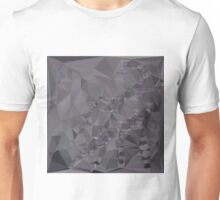 Dark Liver Lavender Abstract Low Polygon Background Unisex T-Shirt