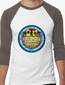 Romantic Costa Maya Men's Baseball ¾ T-Shirt
