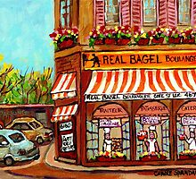 MONTREAL BAKERY REAL BAGEL SHOP by Carole  Spandau