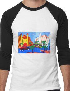 The Esplanade St Kilda Melbourne Victoria Australia Men's Baseball ¾ T-Shirt