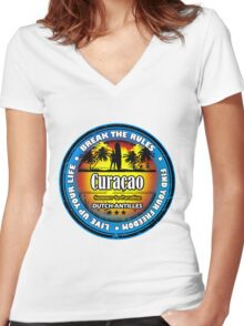 Wonderful Ducth Antilles Women's Fitted V-Neck T-Shirt