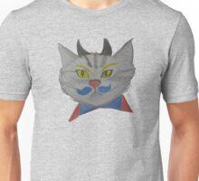 Blue Mustache Cat Unisex T-Shirt