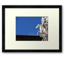Rooftop in Siena Framed Print