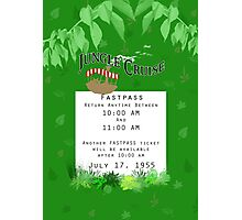 Jungle Cruise Fastpass Photographic Print