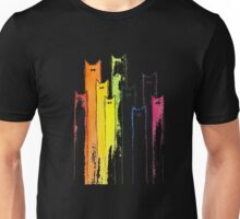 Rainbow of Cats Whimsical Animals Watercolor T-shirt Unisex T-Shirt