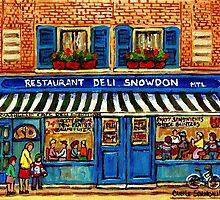 MONTREAL DELI SNOWDON DELI  by Carole  Spandau