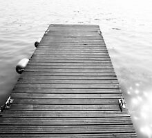 Black and White Dock by PatiDesigns