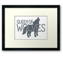 Queen of wolves Framed Print