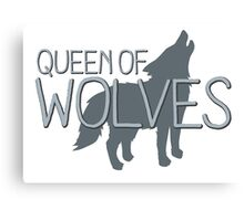 Queen of wolves Canvas Print