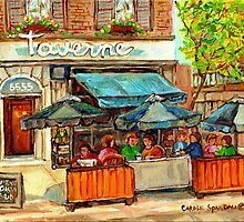 MONTREAL MONKLAND TAVERNE by Carole  Spandau