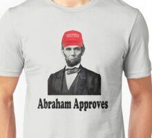 Lincoln Wearing Trump Hat Unisex T-Shirt