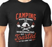 Camping Where Friends And Marshmallows Get Toasted Unisex T-Shirt