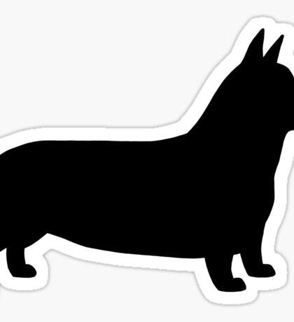 Pembroke Welsh Corgi Silhouette(s) Sticker
